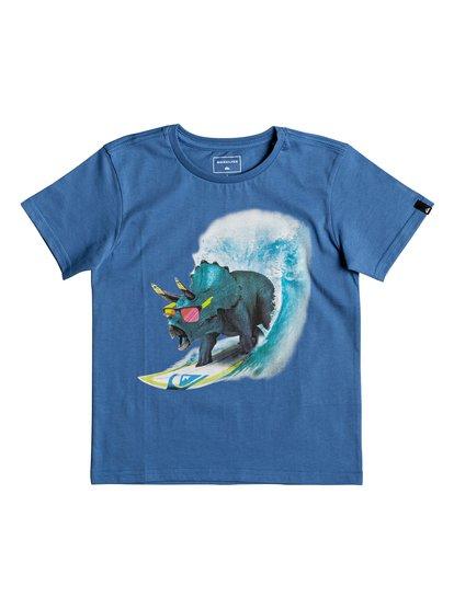 Classic off <strong>t</strong> shirt col rond pour garçon bleu quiksilver