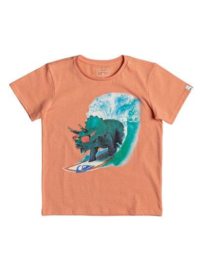 Classic off <strong>t</strong> shirt col rond pour garçon orange quiksilver