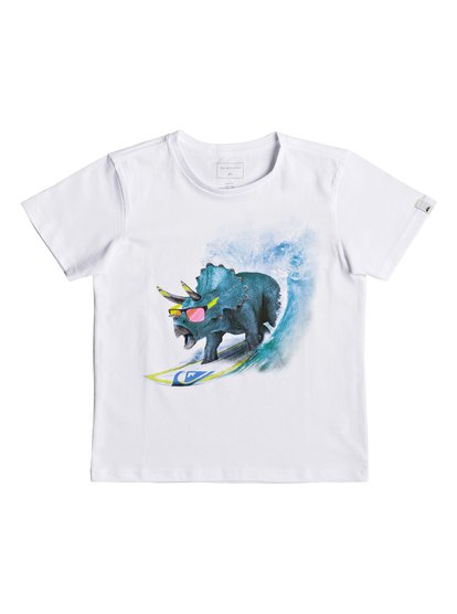 Classic off <strong>t</strong> shirt col rond pour garçon blanc quiksilver
