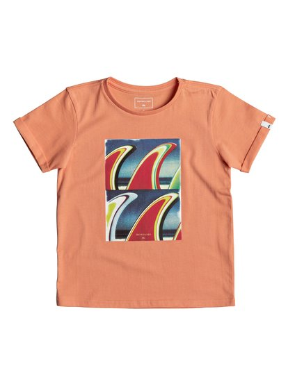 Classic fin fanatic <strong>t</strong> shirt col rond pour garçon orange quiksilver