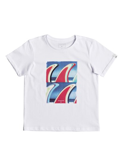 Classic fin fanatic <strong>t</strong> shirt col rond pour garçon blanc quiksilver