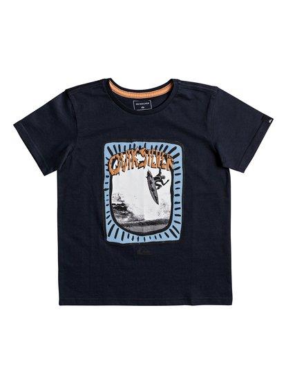 Classic hulu pena <strong>t</strong> shirt col rond pour garçon bleu quiksilver