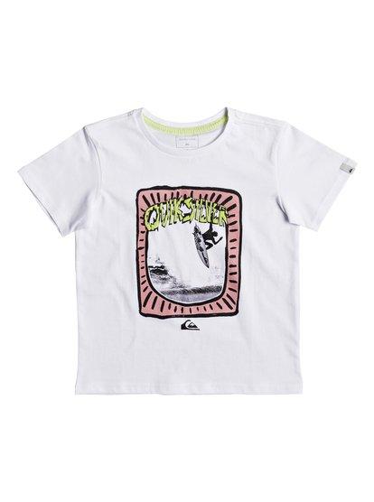 Classic hulu pena <strong>t</strong> shirt col rond pour garçon blanc quiksilver