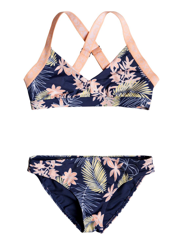 e518a090fd Detalles acerca de Roxy™ Girl's 7-14 Bikini Point Athletic Triangle Bikini  Set ERGX203203
