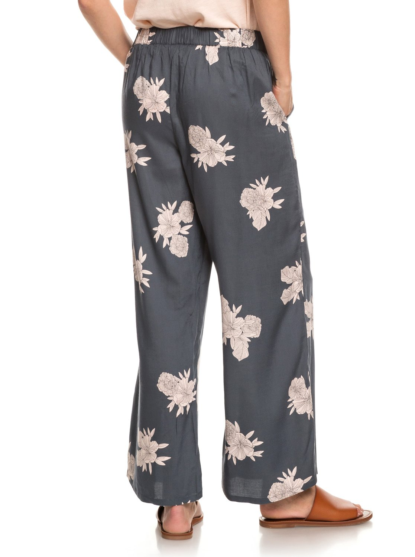 ™ donna per gamba Avenue Roxy Pantaloni Midnight Erjnp03227 in a larga viscosa qwUpY
