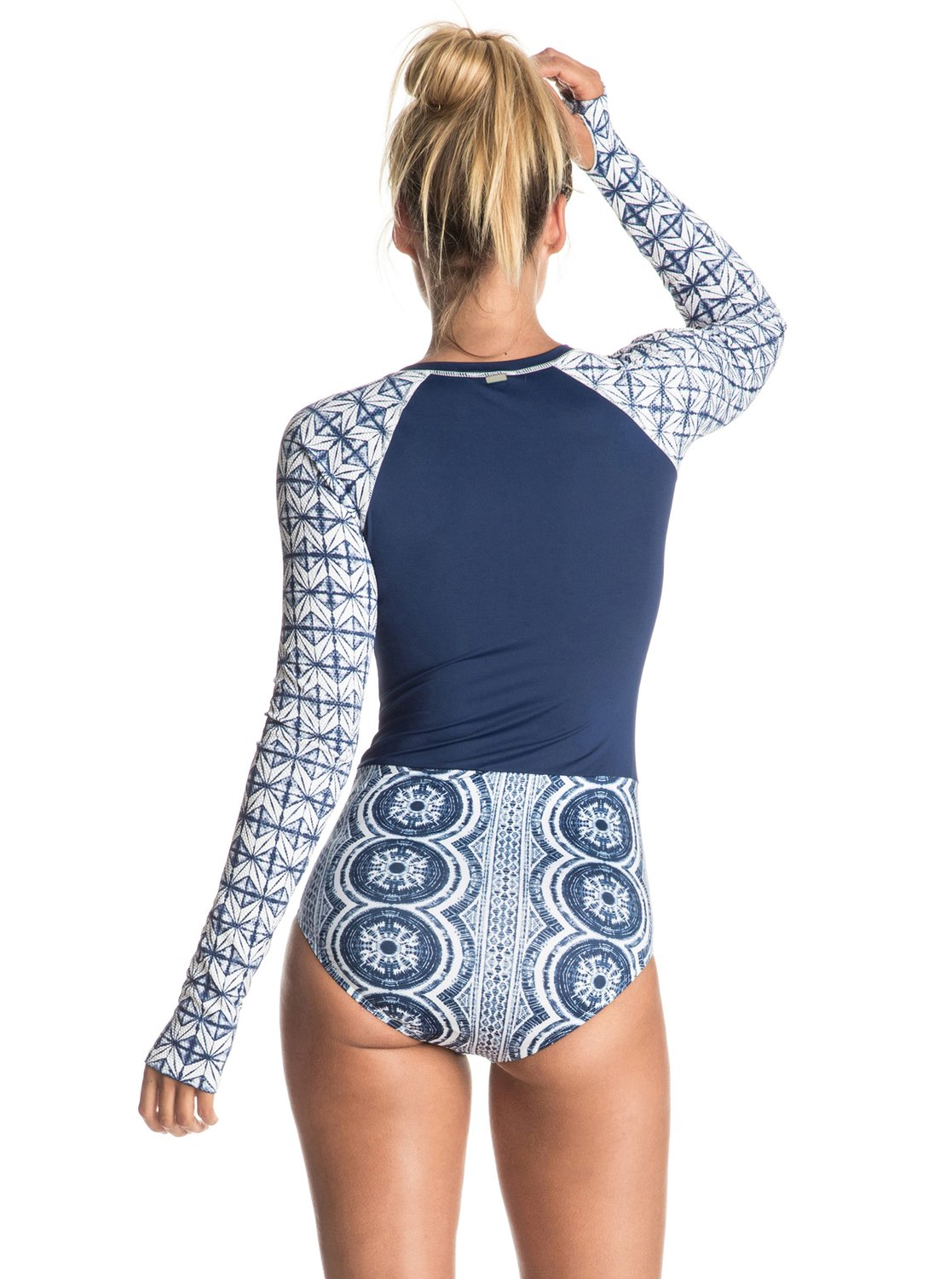 Visual Touch Long Sleeve One Piece Swimsuit 889351449030 | Roxy