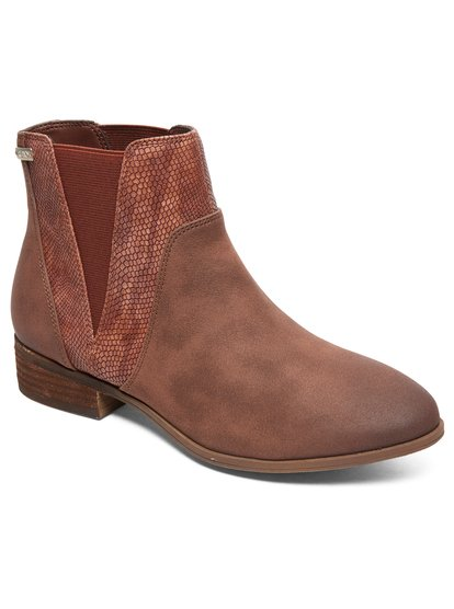 Linn - Mid-Heel Boots for Women - Brown - Roxy